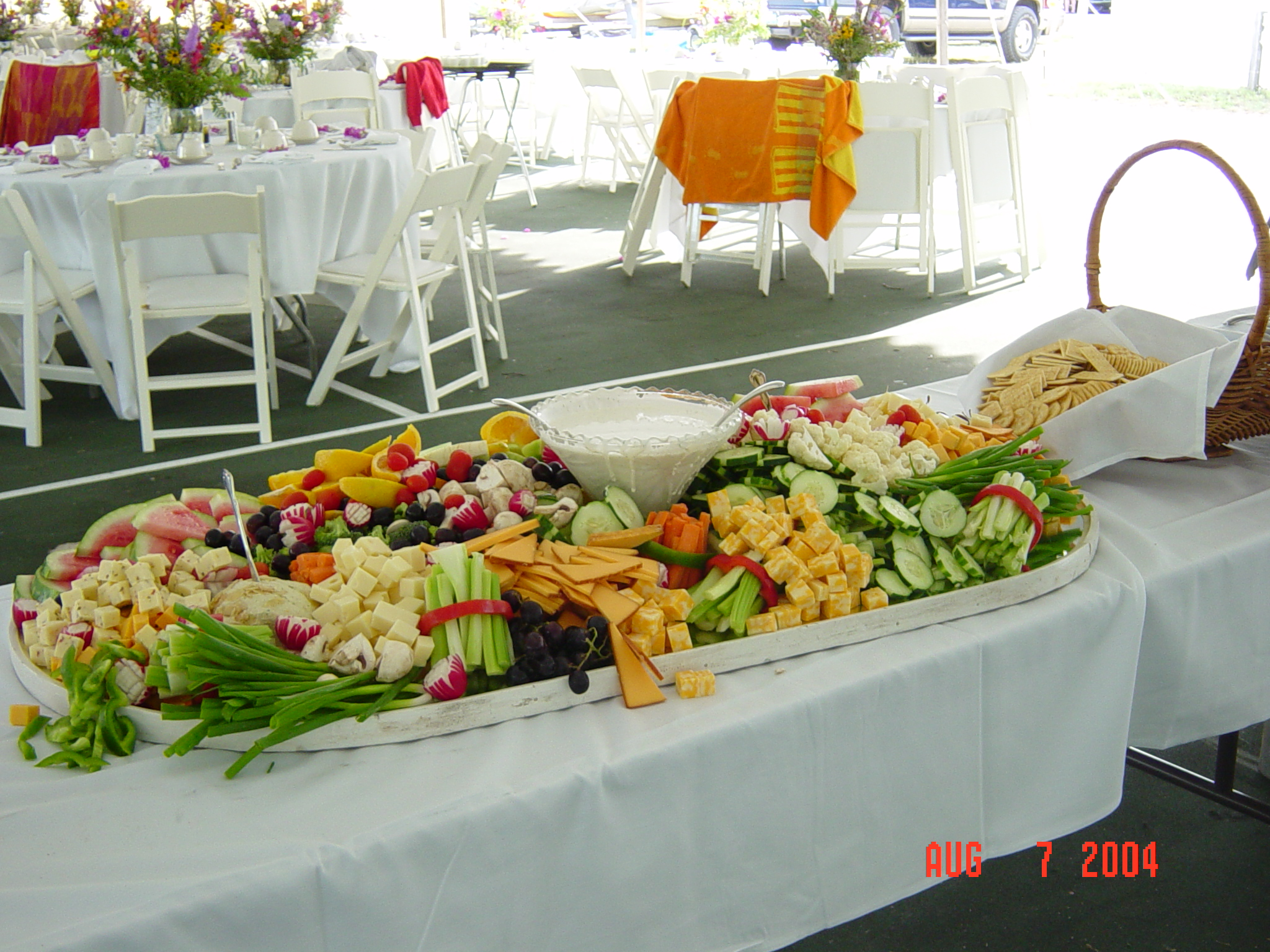 VegetableFruitCheese Display Large Chefs Pride Catering Inc